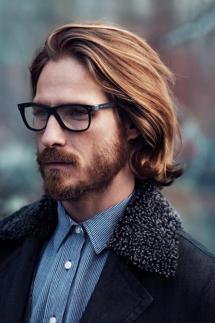 Мужская стрижка 2018 на рыжие волосы