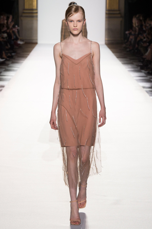 Шелковое платье с сеткой