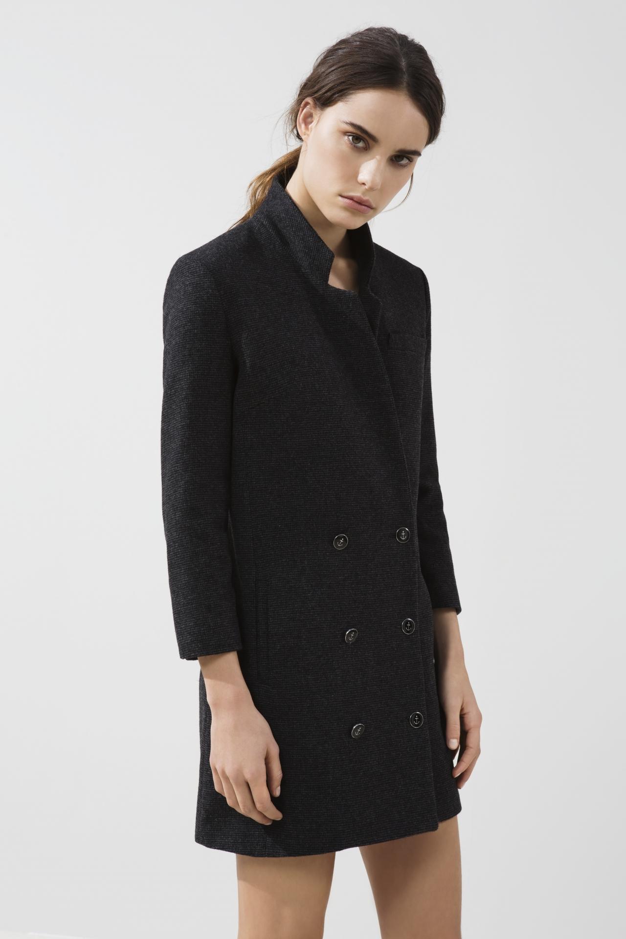 Платье пиджак шерстяное