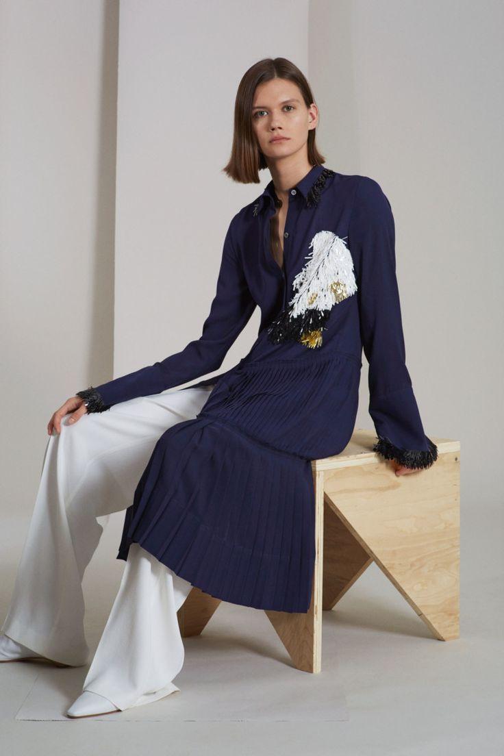 Платье пиджак синее