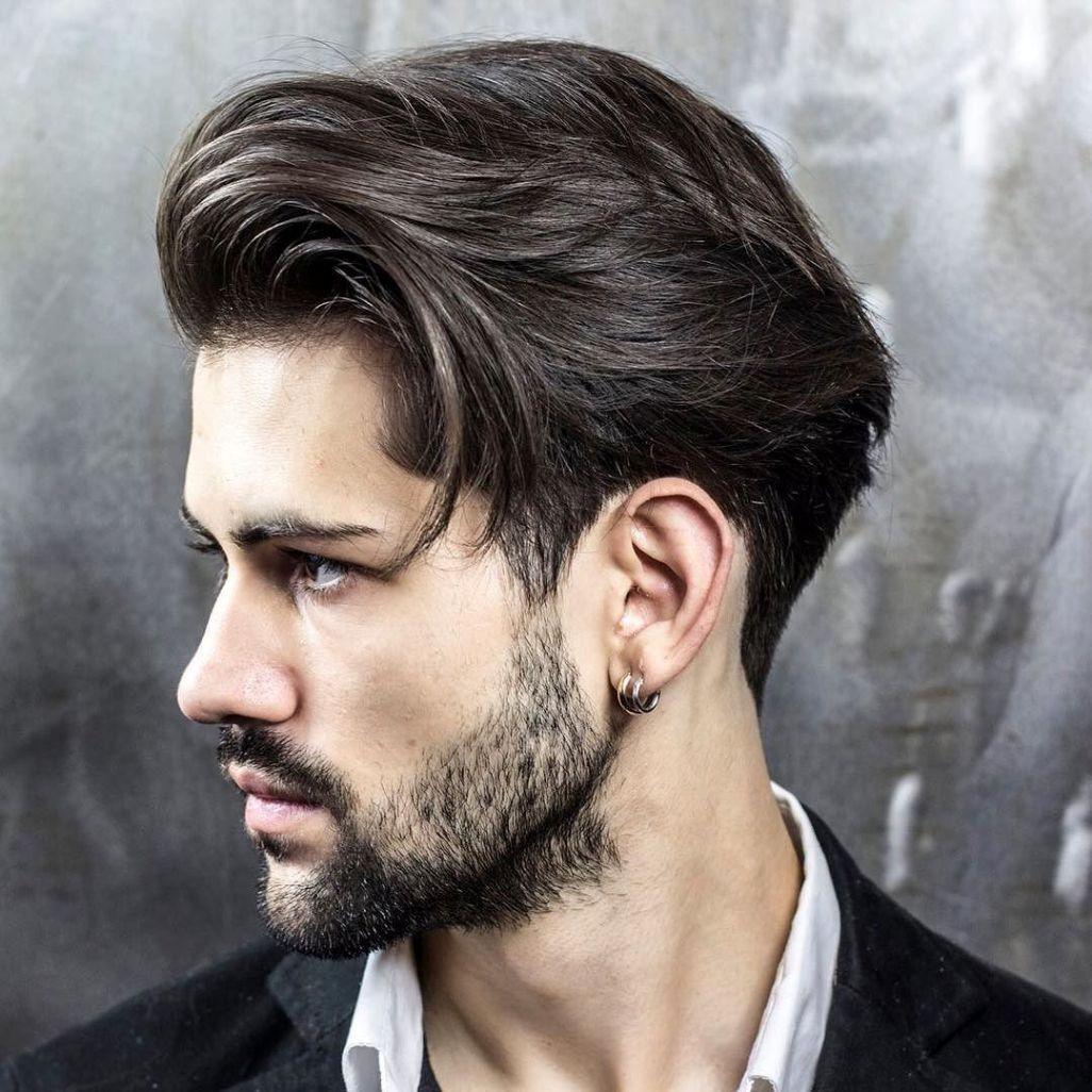 Мужская стрижка 2018 деграде на средние волосы