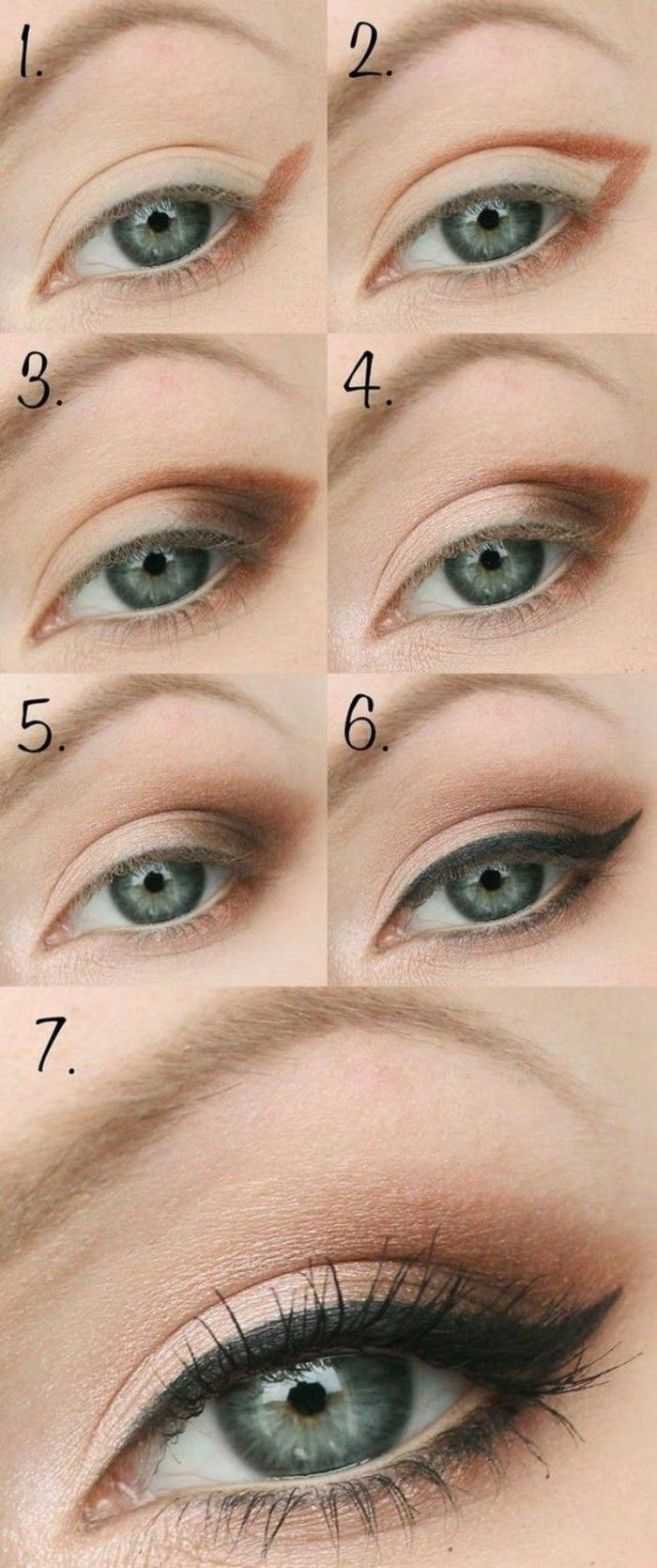 Нюдовый макияж со стрелками