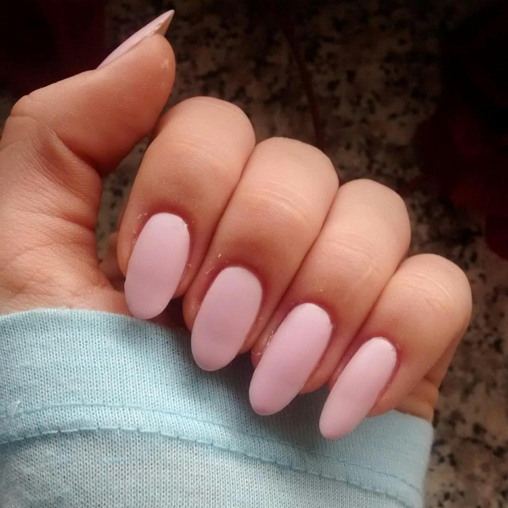 Матовый маникюр светло розовый