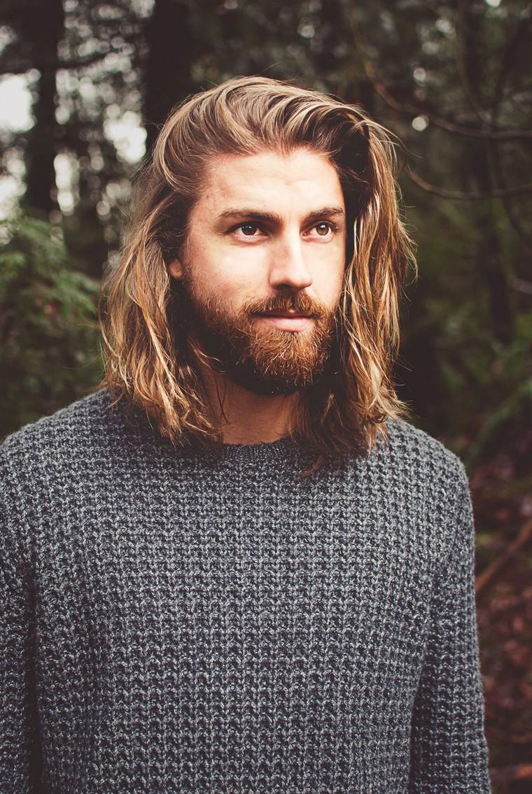 Мужская стрижка 2018 на светлые волосы