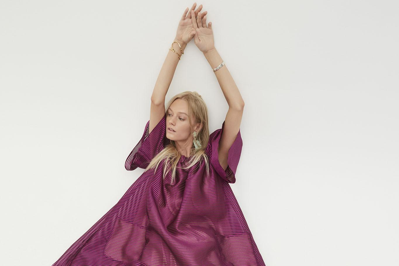 Шелковое платье свободное
