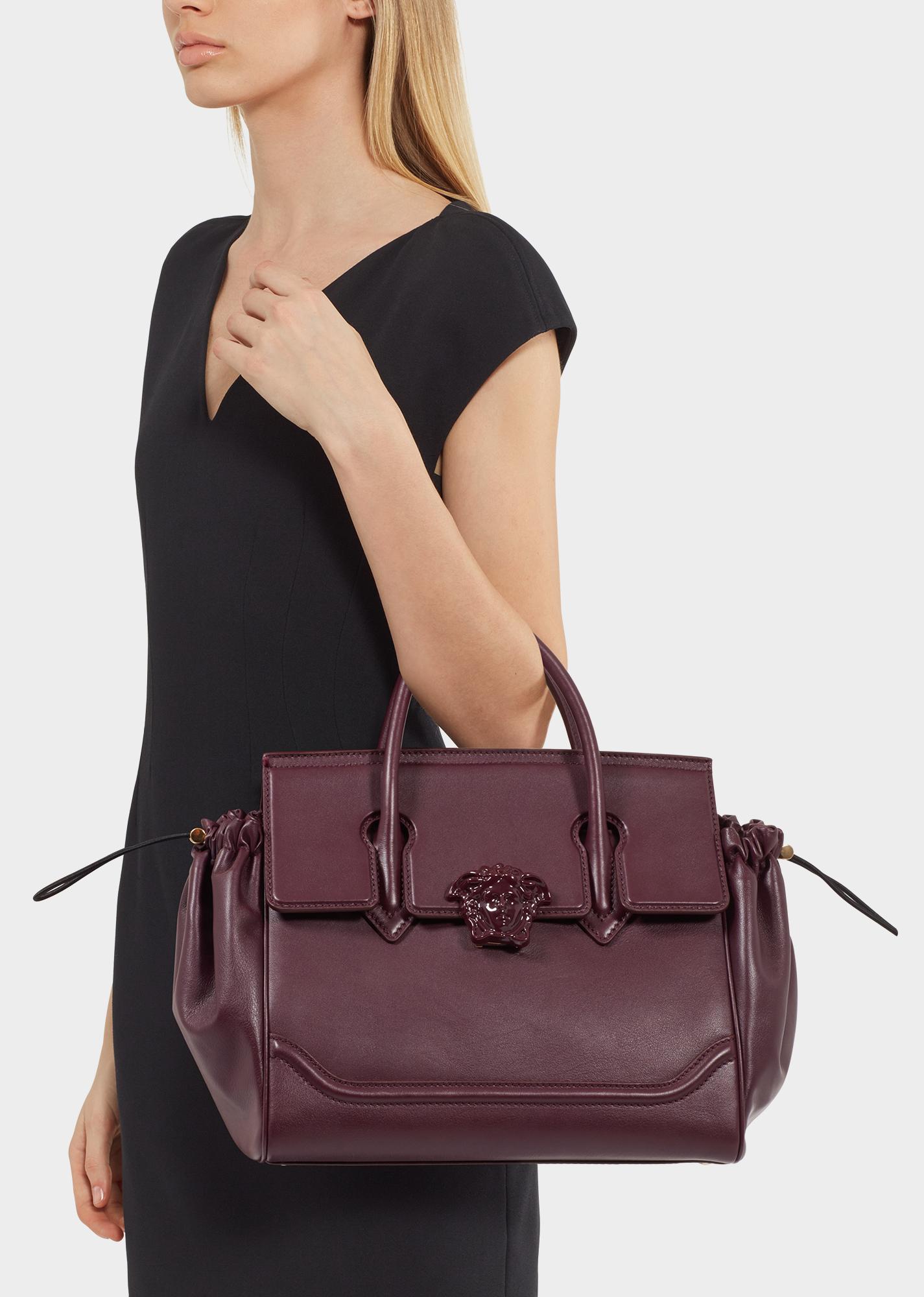 Бордовая сумка темная