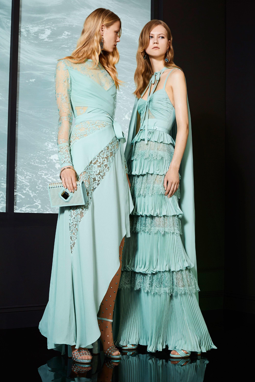 Платье с разрезом бирюзовое