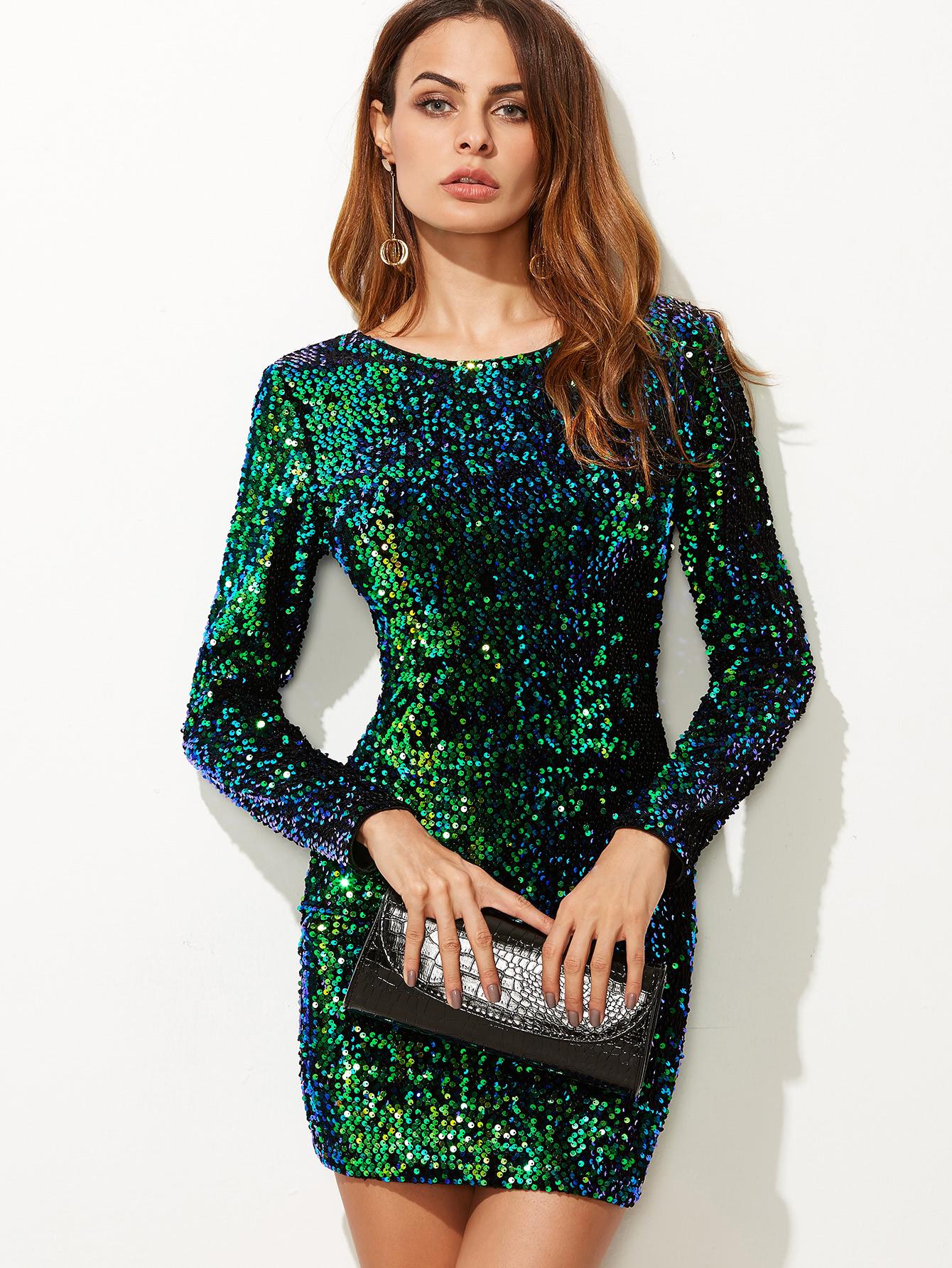 Платье футляр вечернее блестящее