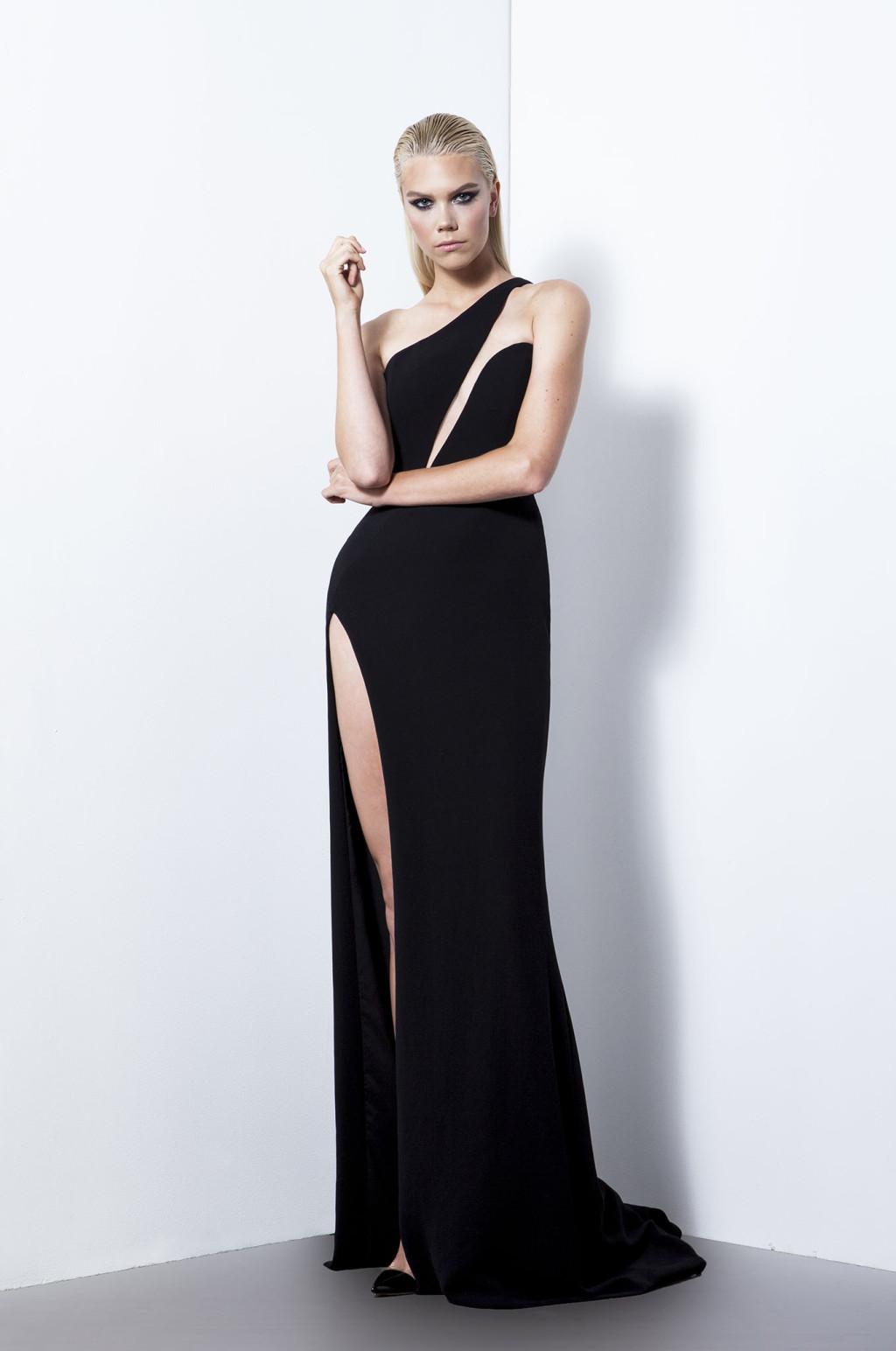 Платье футляр вечернее с разрезом