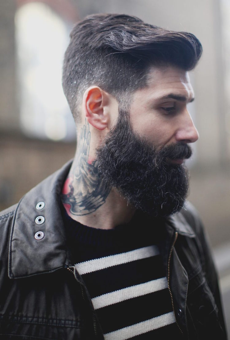 Мужская стрижка 2018 с выбритым затылком