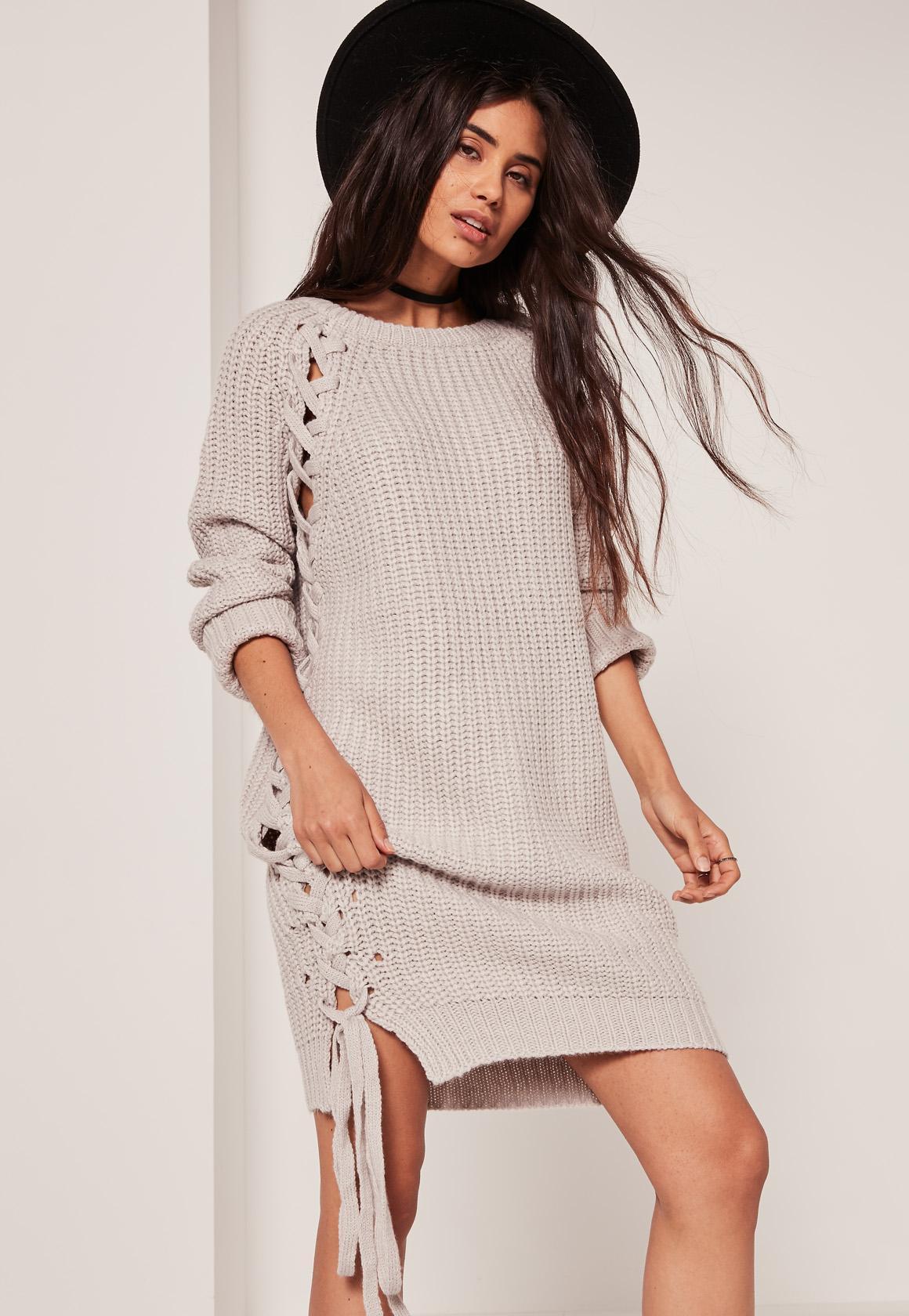 Платье вязаное с завязками