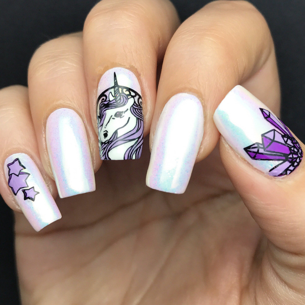 Дизайн лаком для ногтей