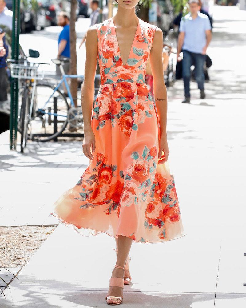 Платье миди Lela Rose цветочное