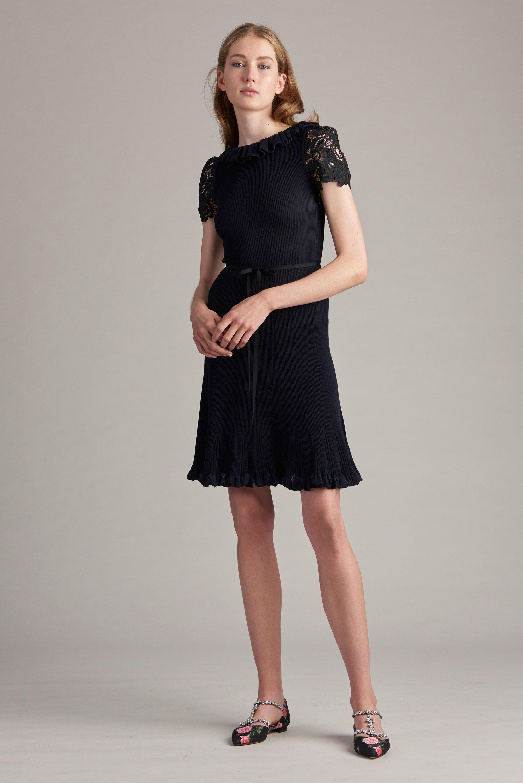 Платье миди Monique Lhuillier шифоновое