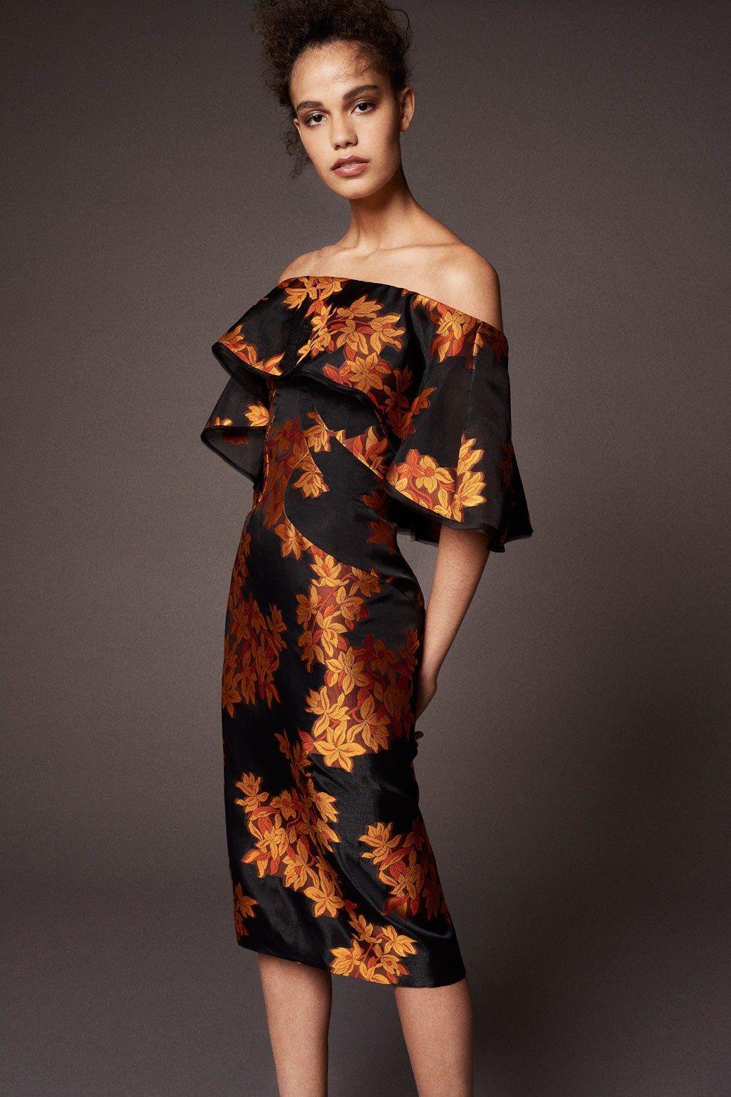 Платье миди Zac Posen