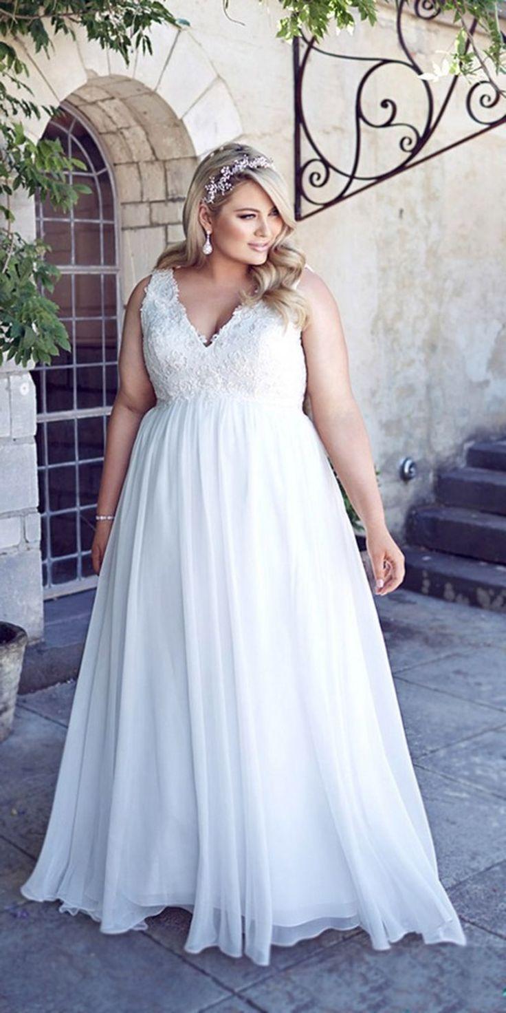 Свадебное платье для полных в стиле ампир