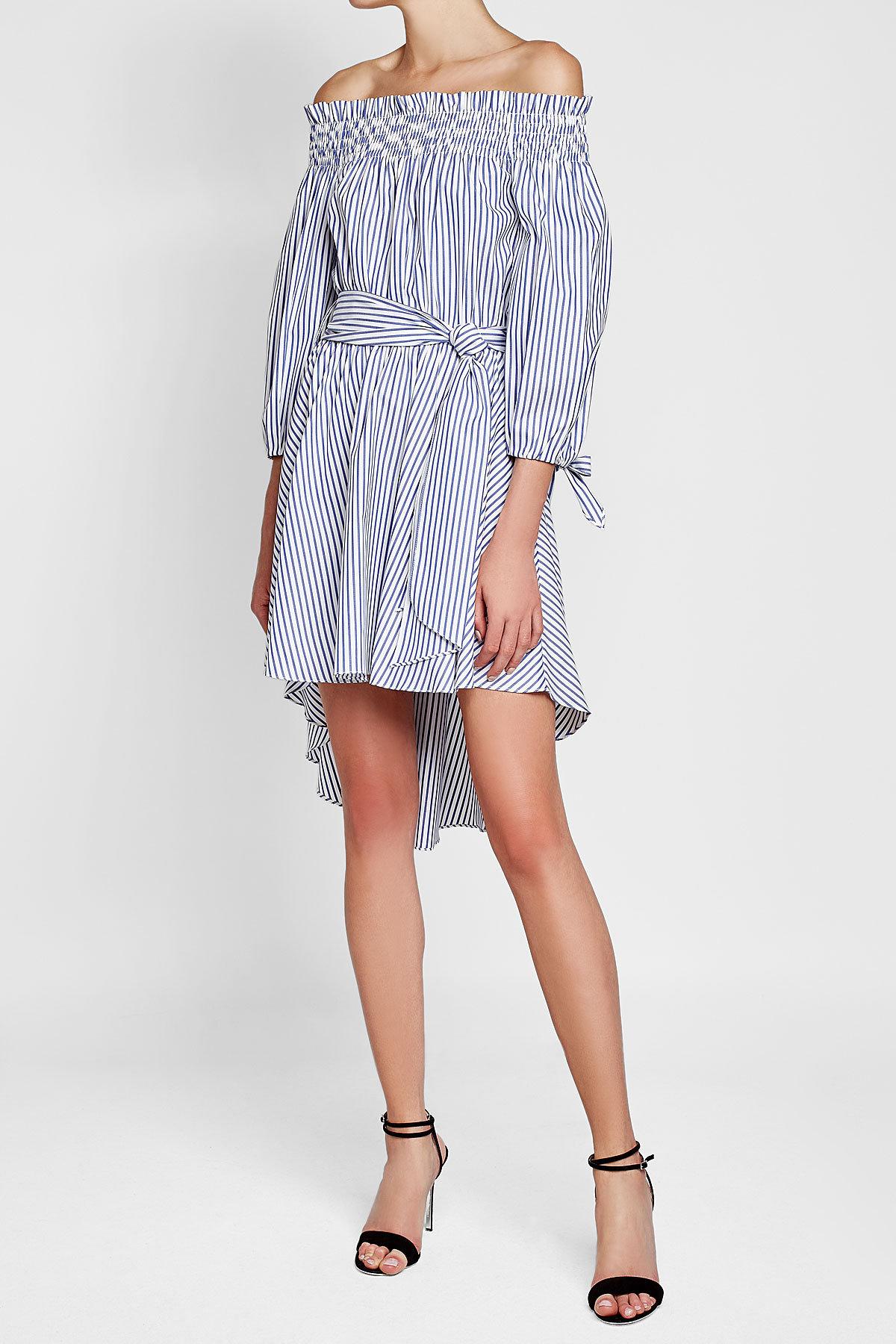 Платье в полоску асимметричное