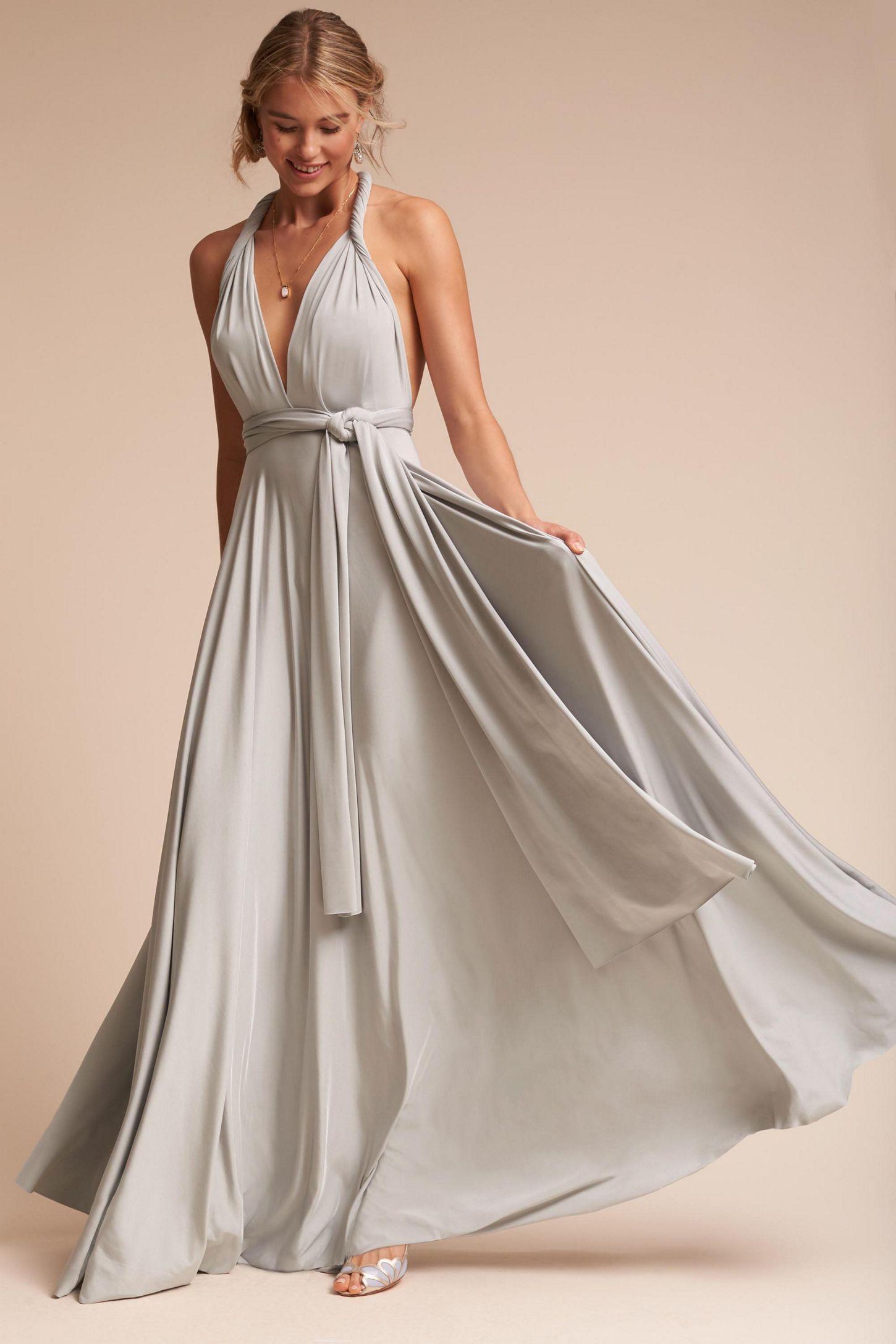 Платье трансформер атласное