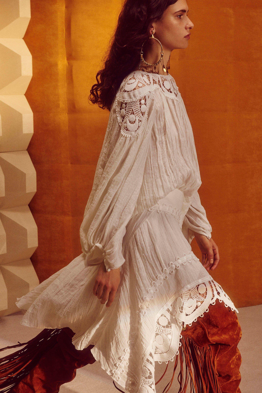Платье бохо белое оверсайзПлатье бохо белое оверсайз