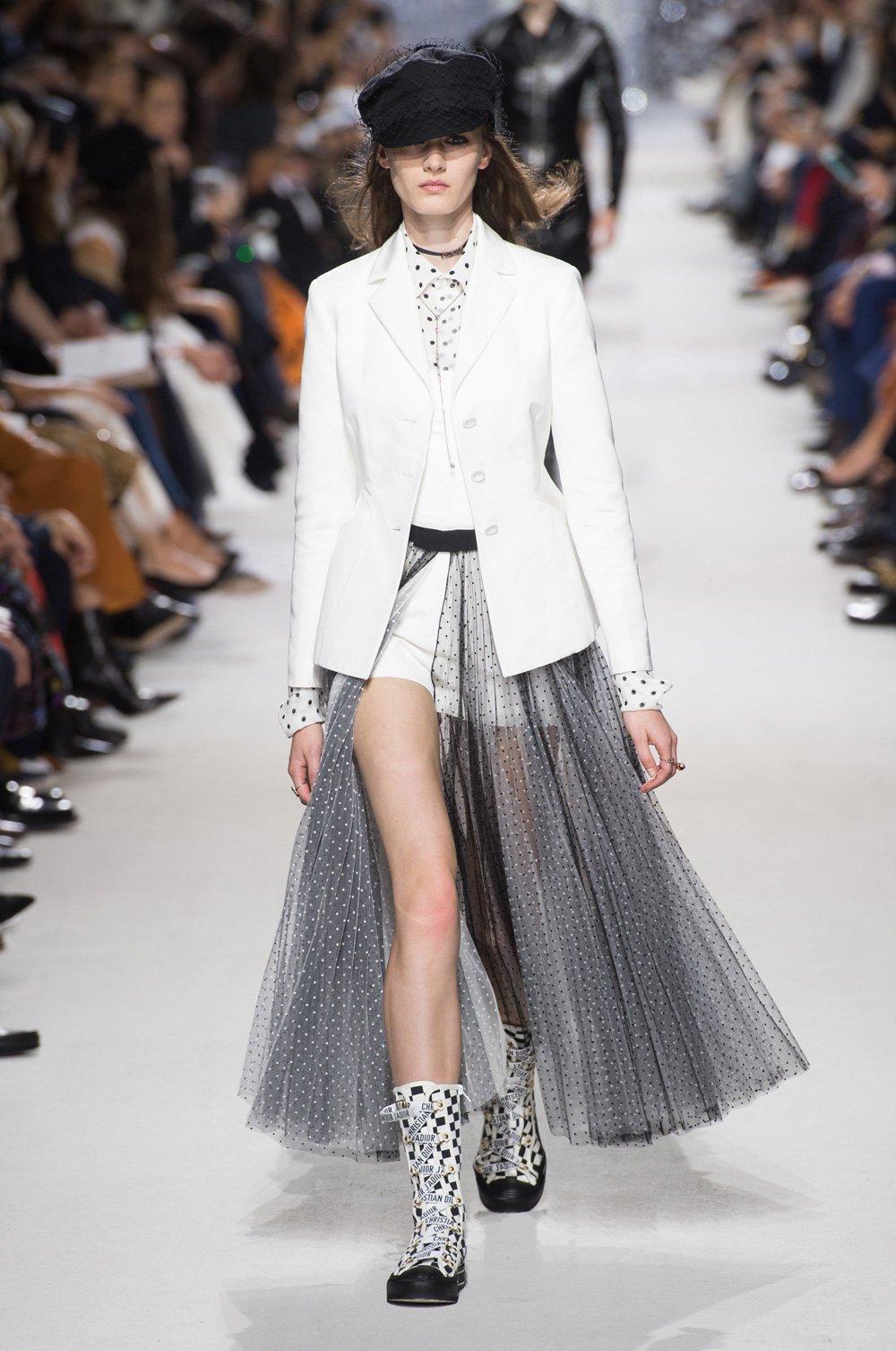 Christian Dior весна лето 2018 белый пиджак