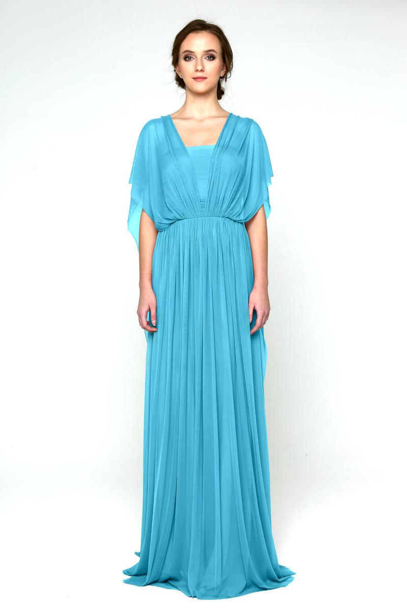 Платье трансформер бирюзовое