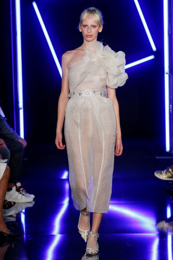 Emanuel Ungaro весна лето 2018 блестящее платье
