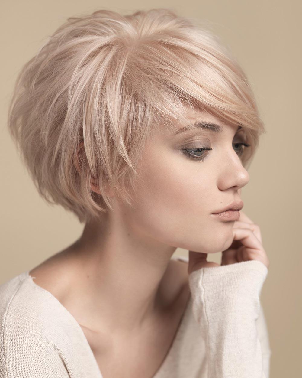 Короткая стрижка 2018 для блондинки