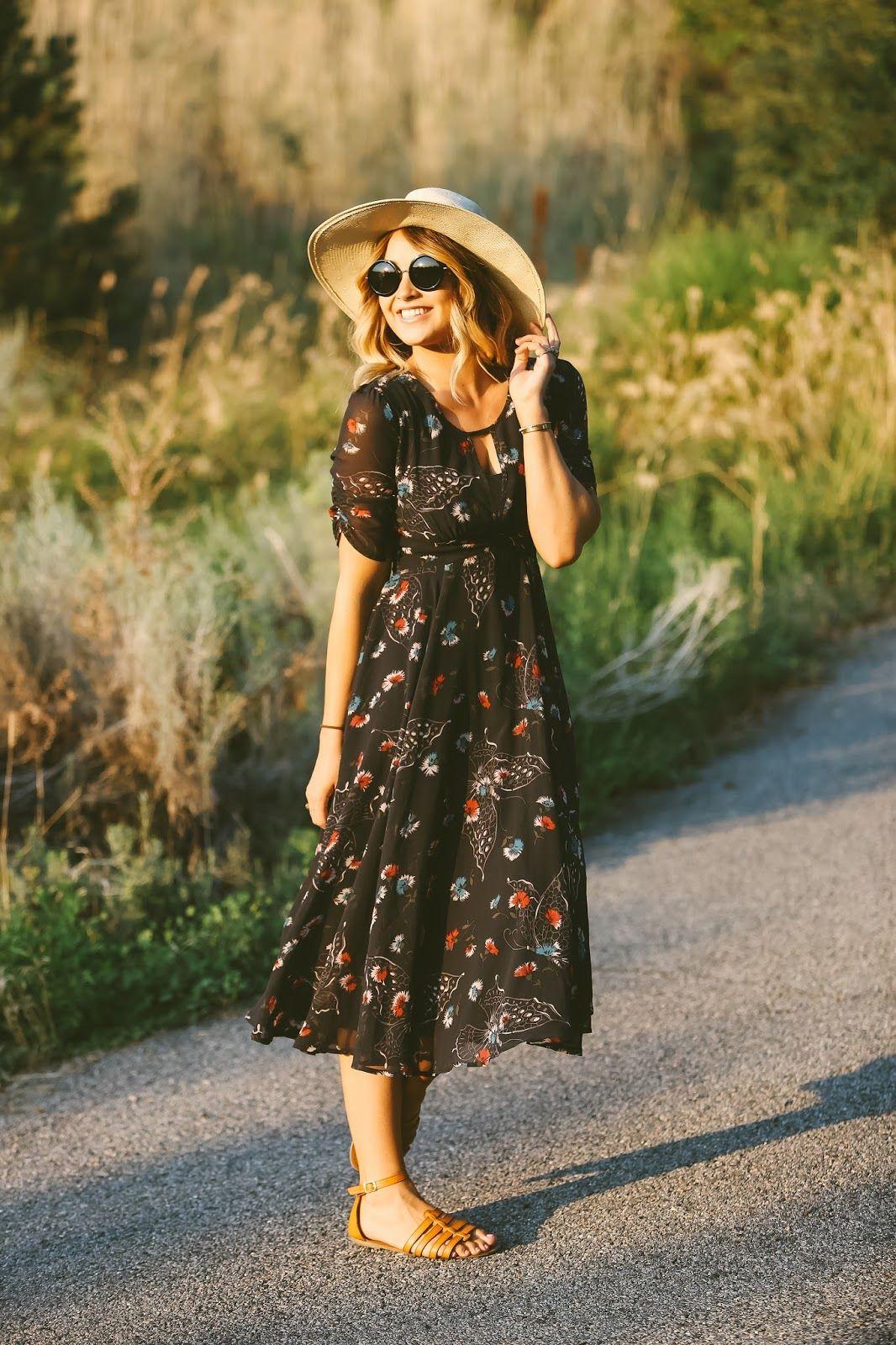 Платье бохо черное