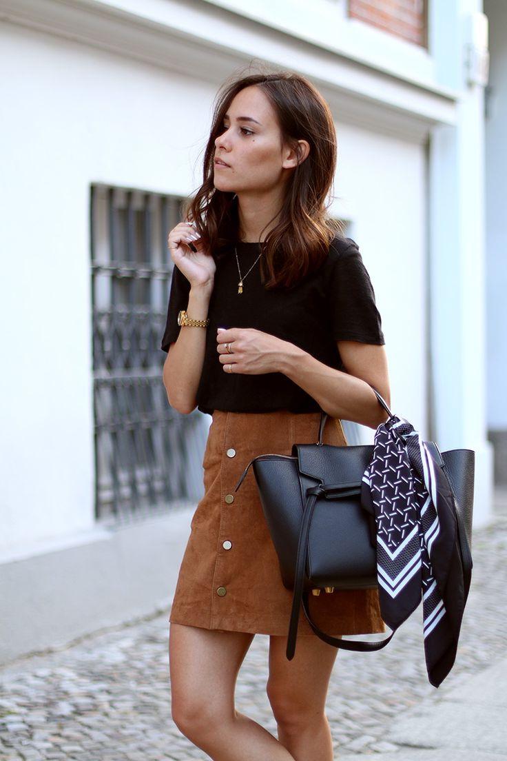 Кожаная сумка женская деловая черная