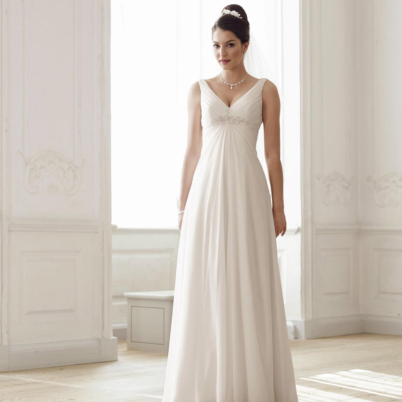 Свадебное платье для полных длинное