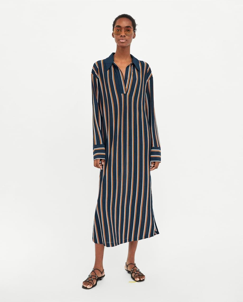 Платье в полоску 2018 длинное