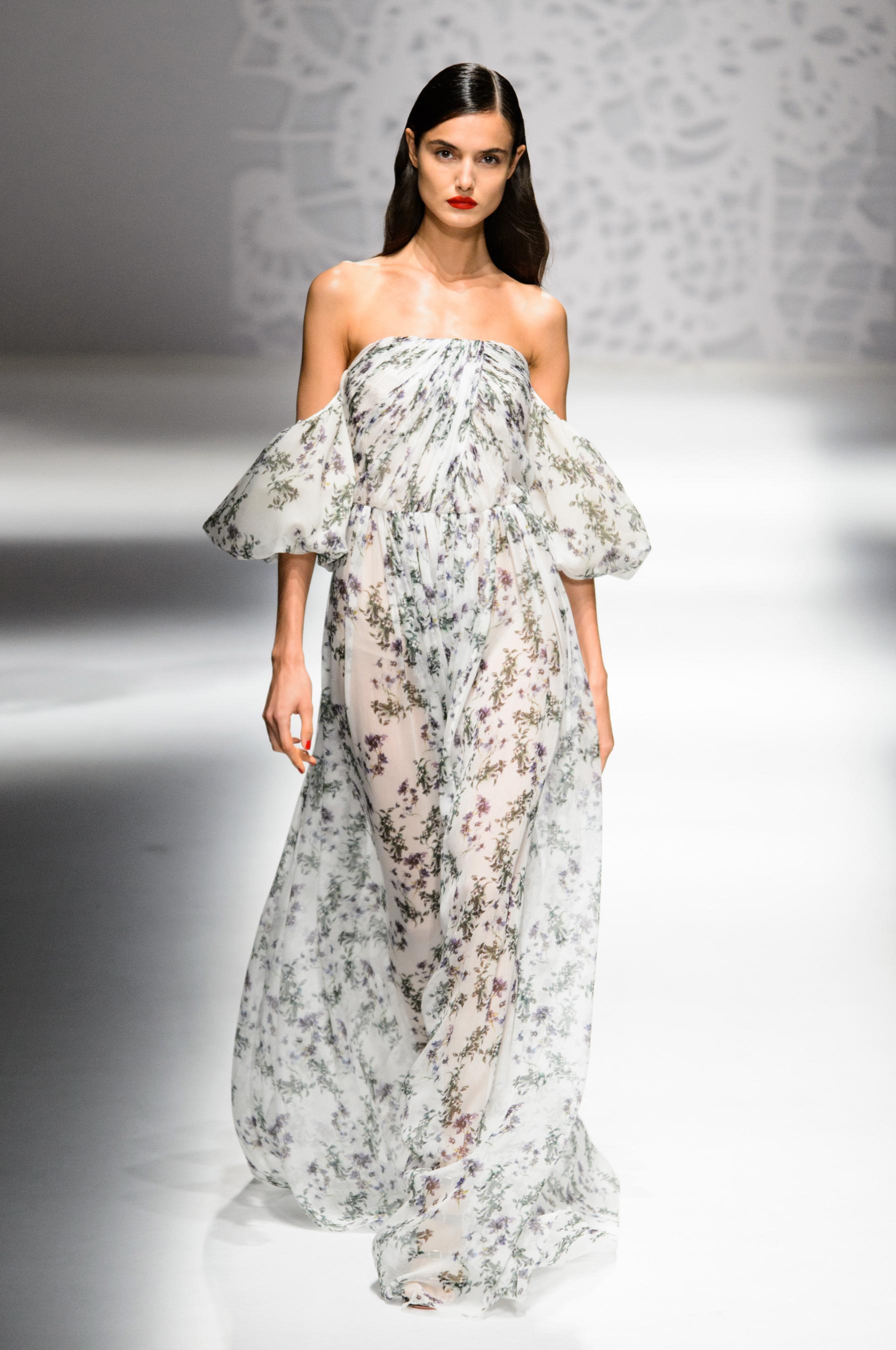 Blumarine весна лето 2018 длинное платье