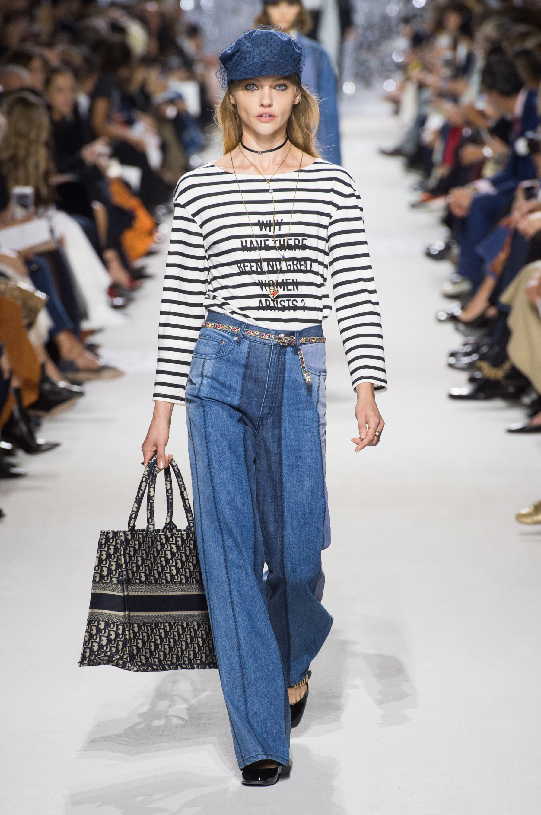 Christian Dior весна лето 2018 джинсы