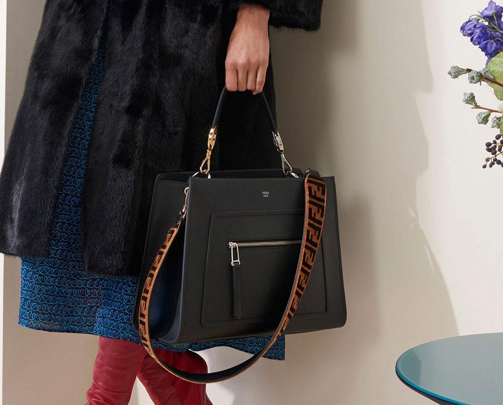 Кожаная сумка женская Fendi