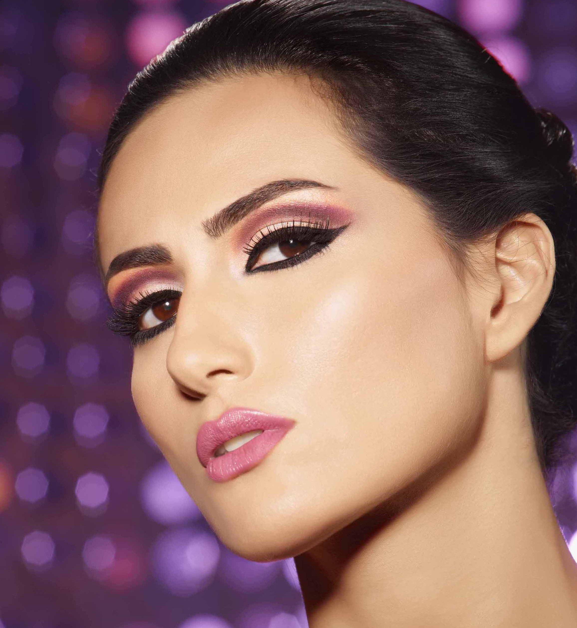 Восточный макияж фиолетовый