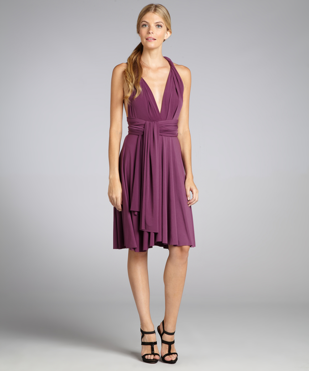 Платье трансформер фиолетовое