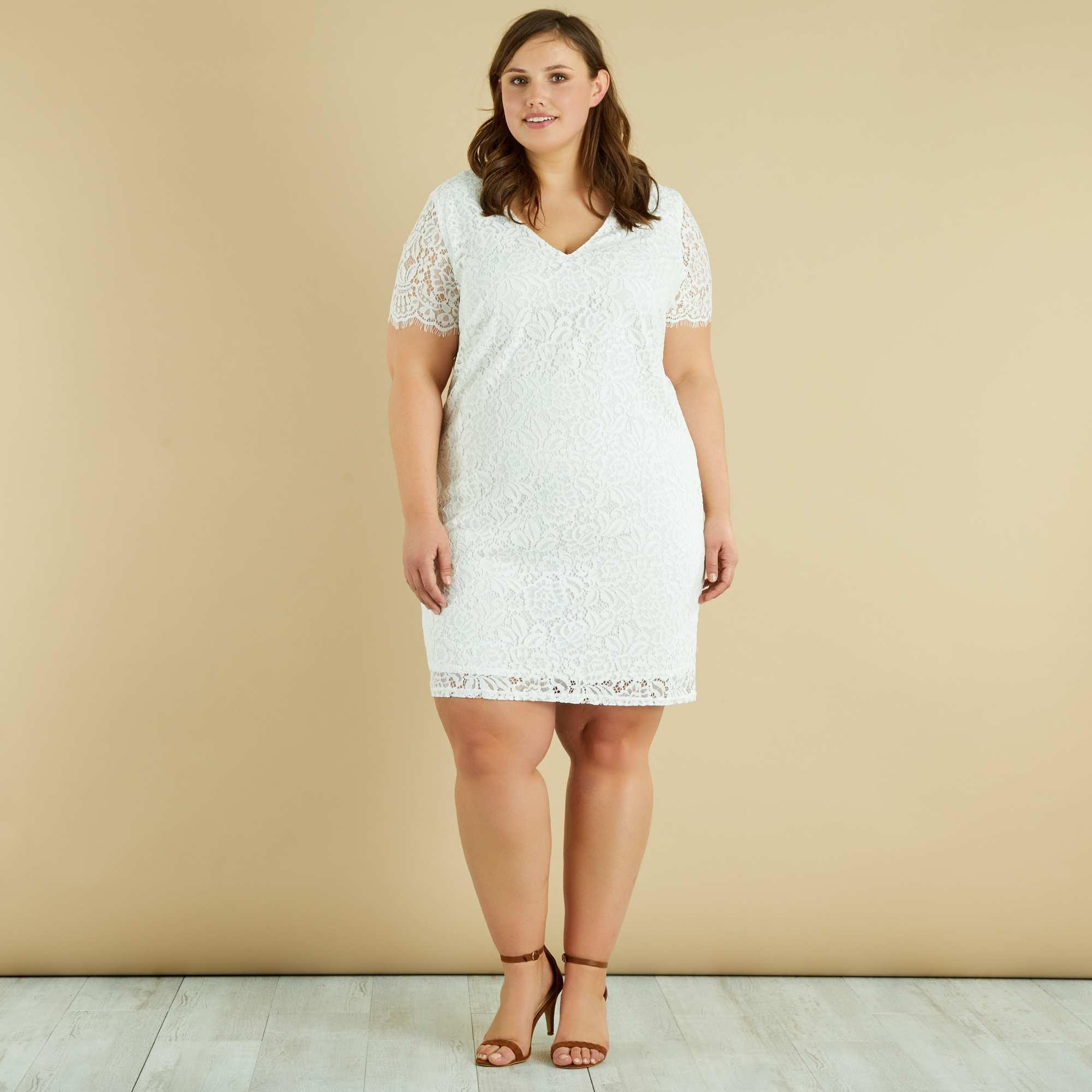 Свадебное платье для полных гипюровое