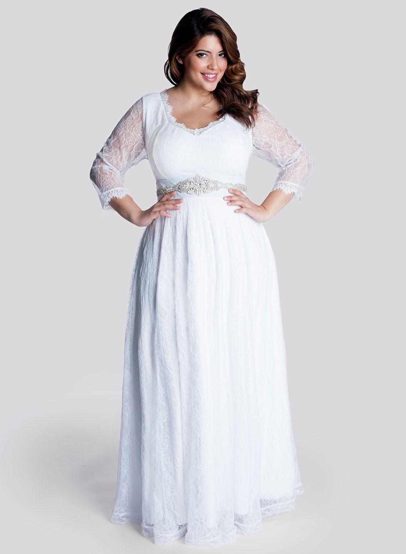 Свадебное платье для полных голубое