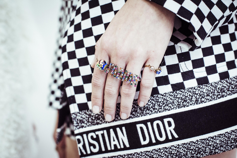 Christian Dior весна лето 2018 кольца