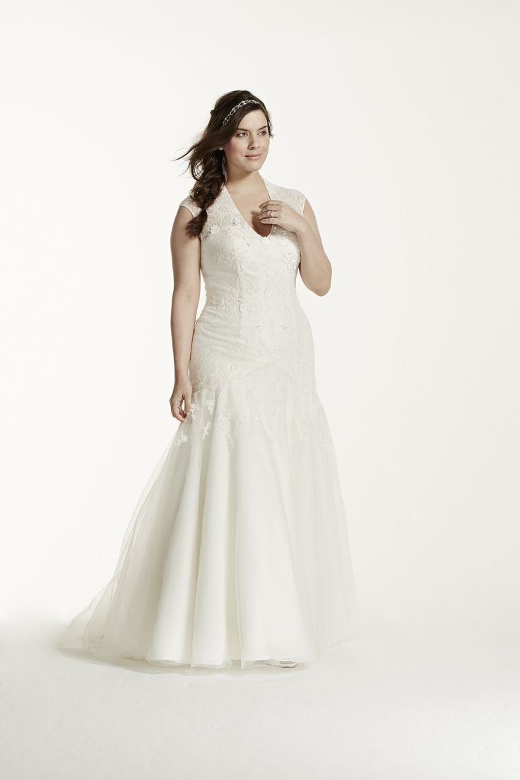 Свадебное платье для полных с корсетом