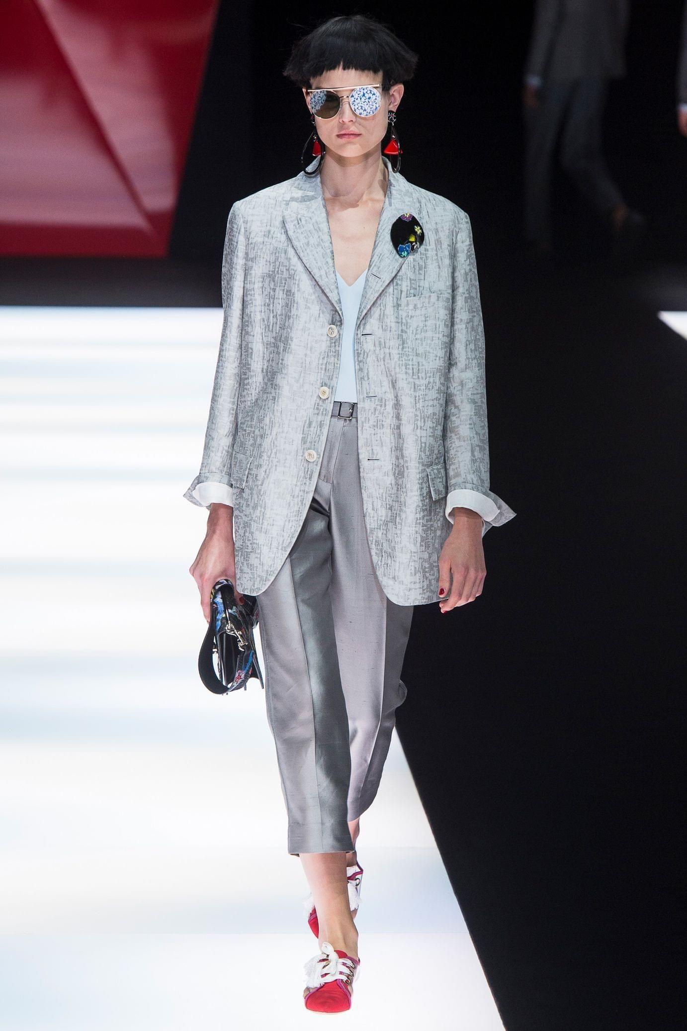 Giorgio Armani весна лето 2018 брючный костюм