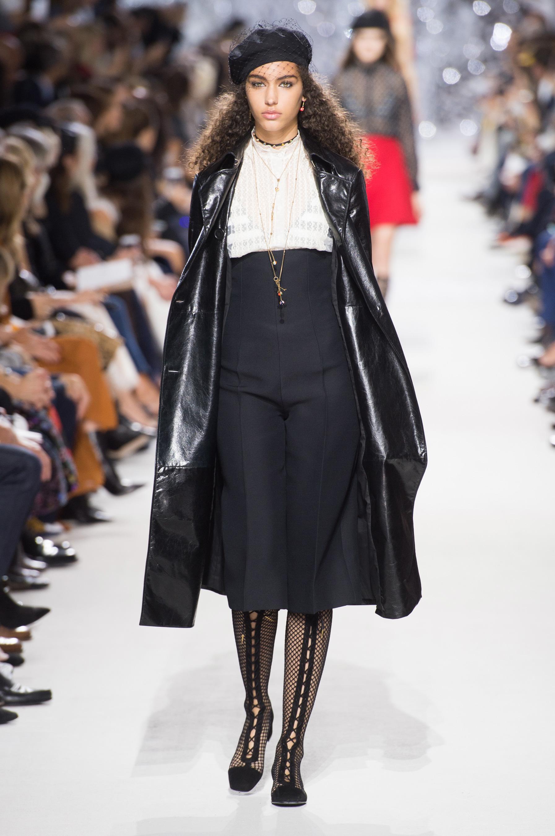 Christian Dior весна лето 2018 кожаное пальто