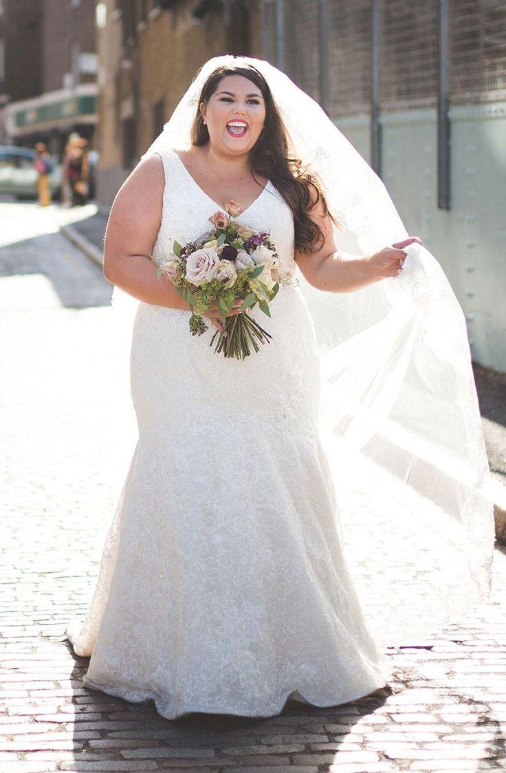 Свадебное платье для полных красивое с вышивкой