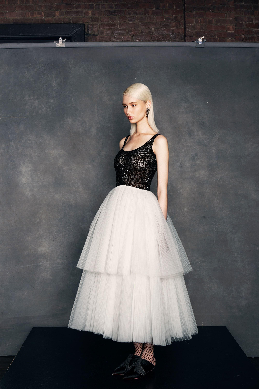 Платье с фатином летнее