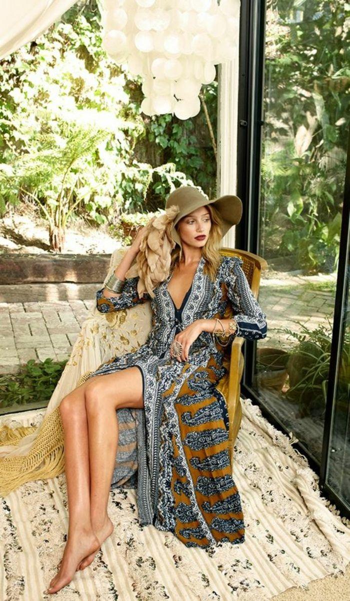 Платье бохо летнее