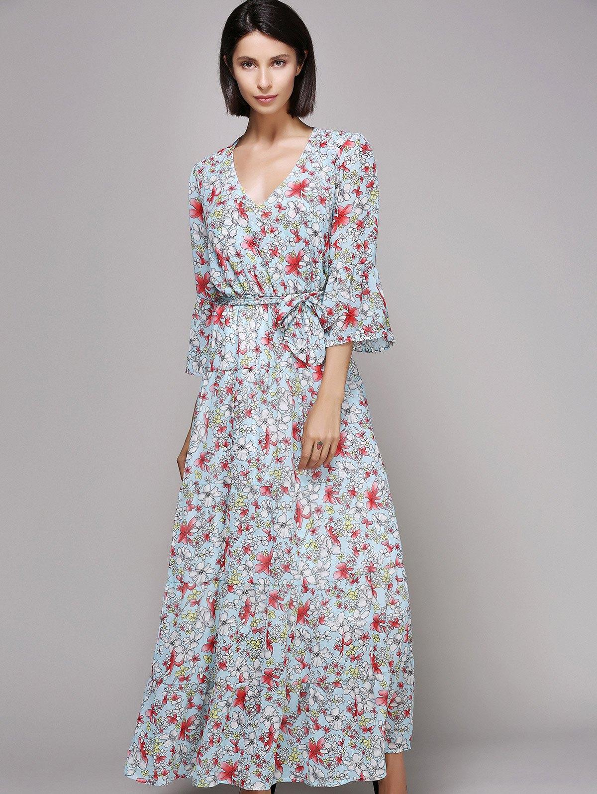 Расклешенное платье макси