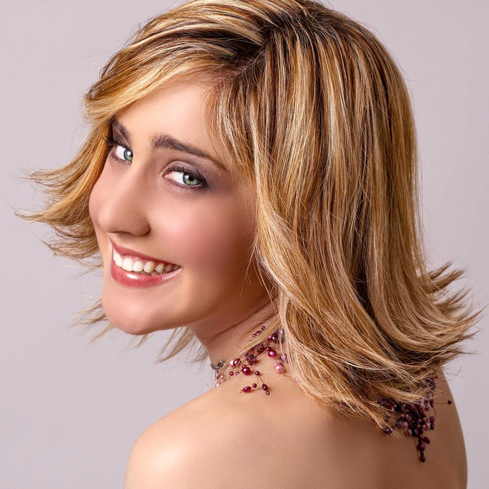 Стрижка на средние волосы 2018 с мелированием