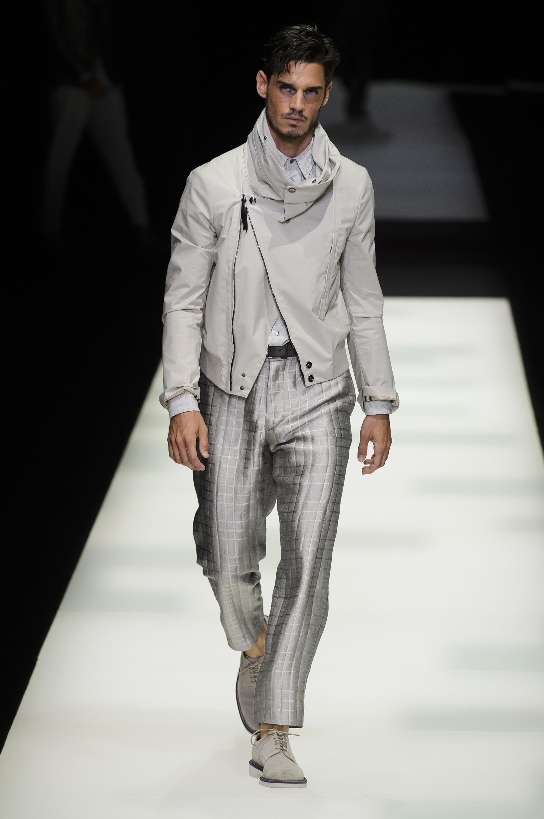 Giorgio Armani весна лето 2018 мужские брюки