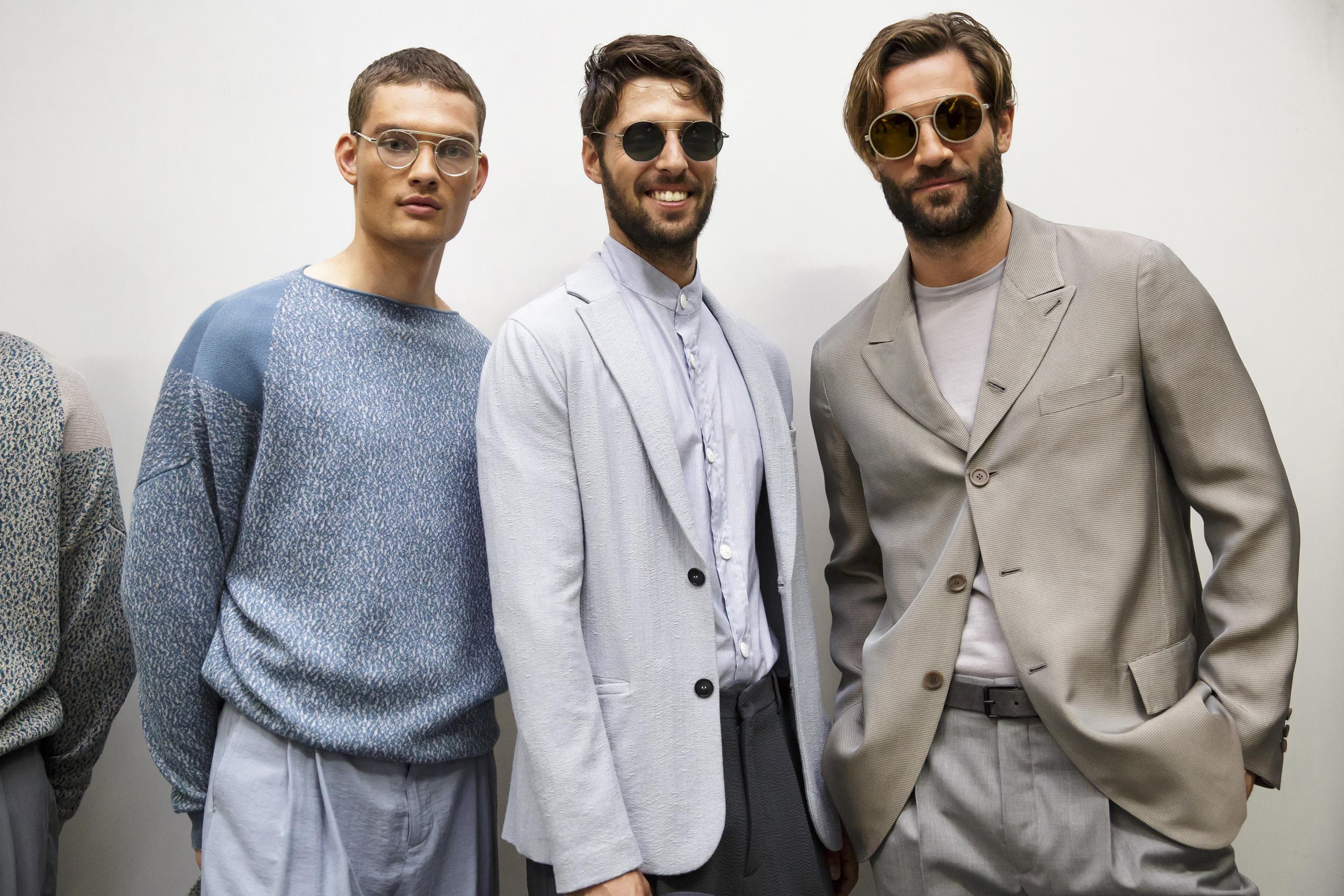 Giorgio Armani весна лето 2018 мужская коллекция