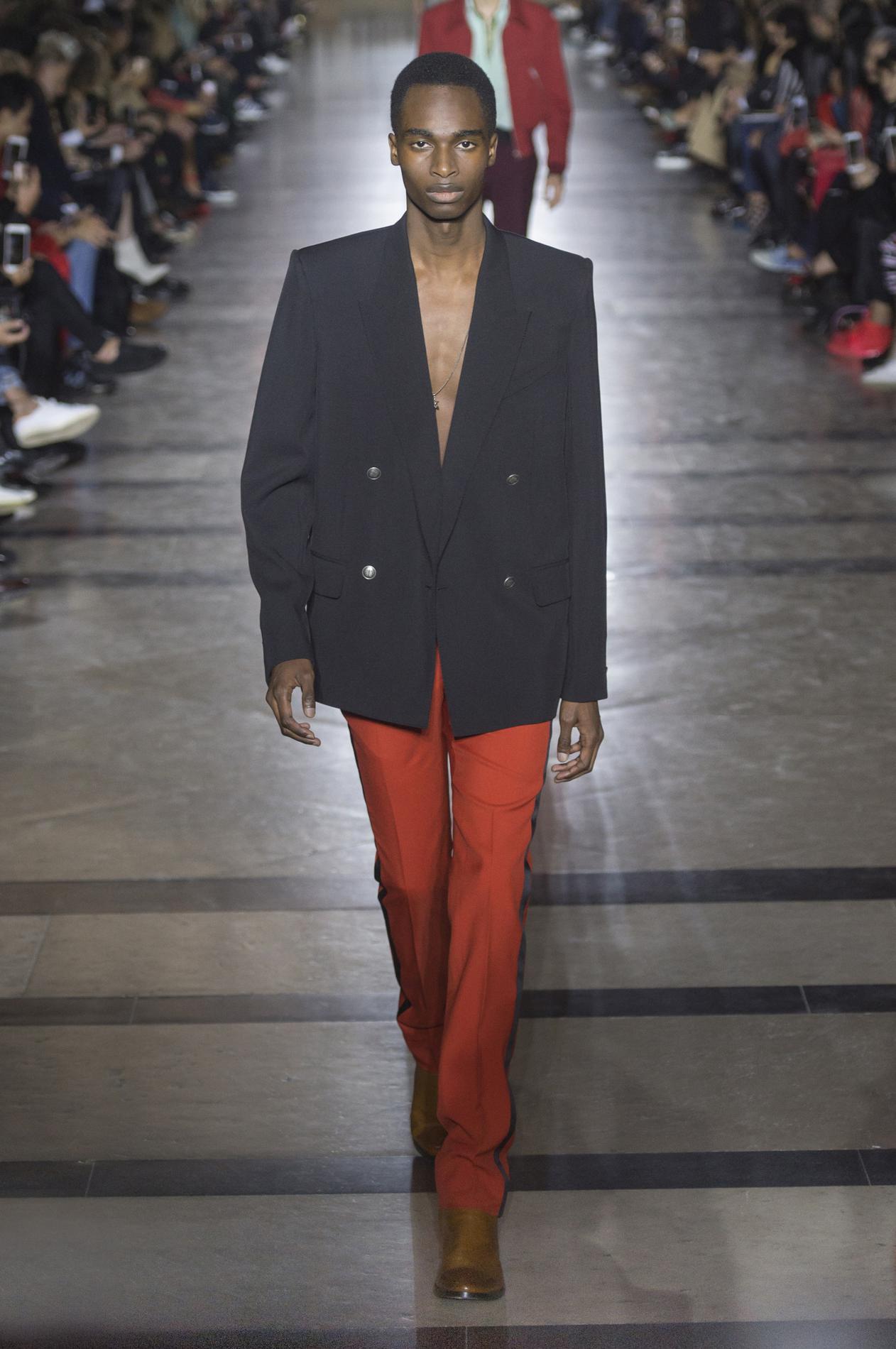 Givenchy весна лето 2018 мужской костюм